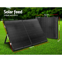 Load image into Gallery viewer, Solraiser 300W Folding Solar Panel Kit Regulator Black - My Bonza Deals