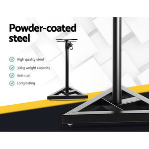 Set of 2 120CM Surround Sound Speaker Stand - Black - My Bonza Deals