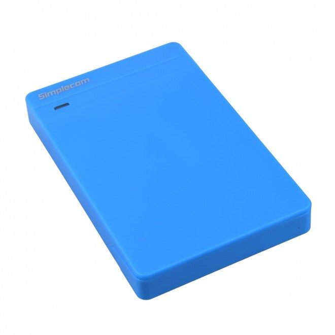 Simplecom SE203 Tool Free 2.5 SATA HDD SSD to USB 3.0 Hard Drive Enclosure Blue