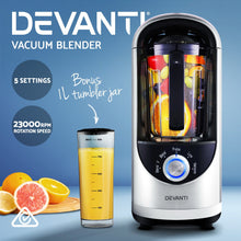 Load image into Gallery viewer, Devanti Commercial Vacuum Blender Juicer Mixer Food Processor Smoothie Silver - My Bonza Deals