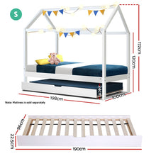 Load image into Gallery viewer, Artiss Wooden Bed Frame Single Size Mattress Base Pine Timber Platform White HOLY - My Bonza Deals