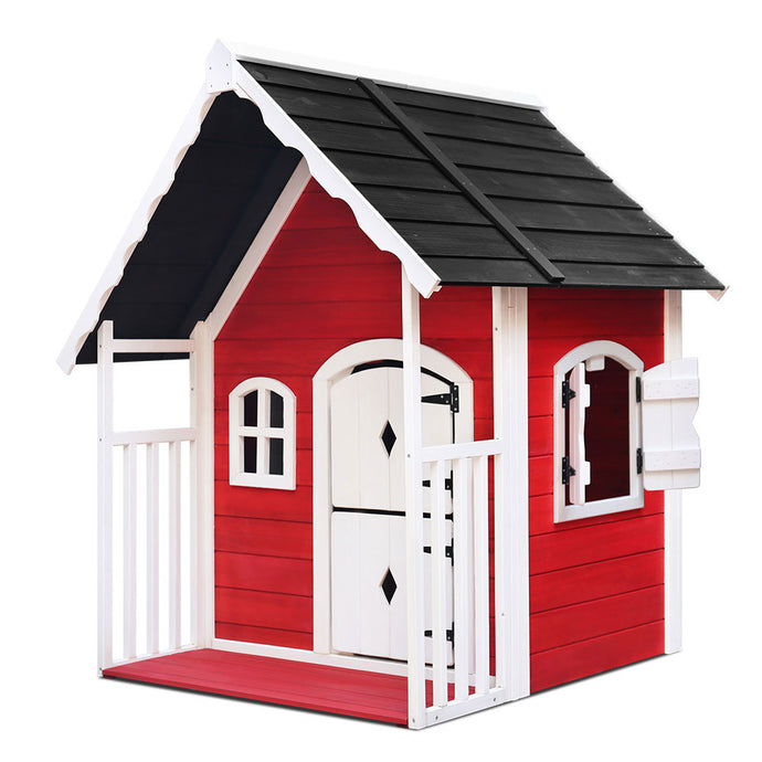 Kids Cubby House Wooden Cottage Playhouse - My Bonza Deals