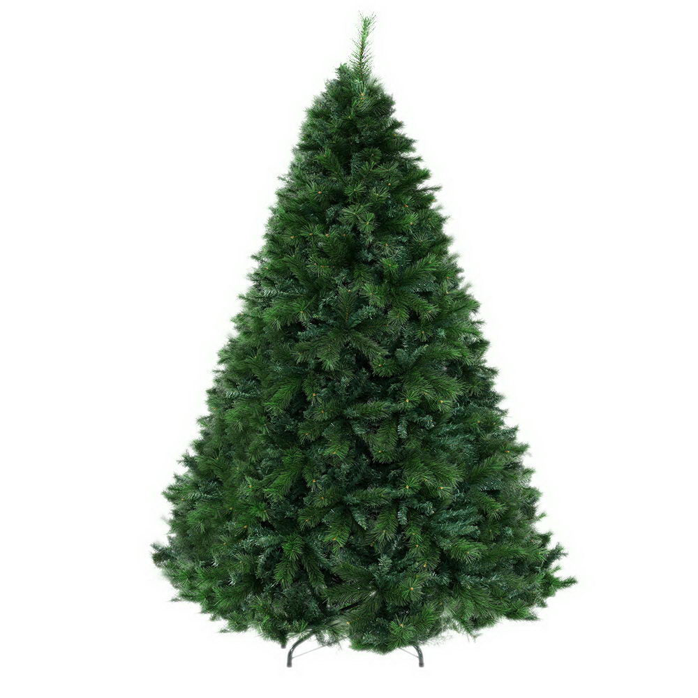 Jingle Jollys Christmas Tree 2.4M 8FT Xmas Decoration Green Home Decor 2100 Tips