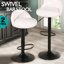 Load image into Gallery viewer, 2x Levede Leather Swivel Bar Stools Barstool Kitchen Stool Gas Lift Dining Chair