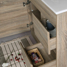 Load image into Gallery viewer, Bathroom Basin Toilet Vanity Finger Pull Storage Cabinet 750mm Stone Top