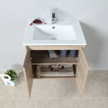 Load image into Gallery viewer, Wall Hung Bathroom Toilet Vanity Basin Storage Cabinet 600mm Stone Top