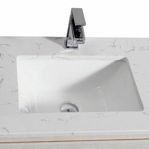 Wall Hung Bathroom Toilet Vanity Basin Storage Cabinet 600mm Stone Top