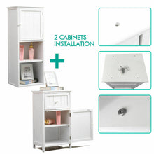 Load image into Gallery viewer, Levede 2 in 1 Bathroom Tallboy Furniture Toilet Storage Cabinet Laundry Cupboard
