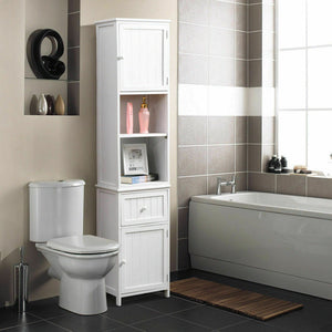 Levede 2 in 1 Bathroom Tallboy Furniture Toilet Storage Cabinet Laundry Cupboard