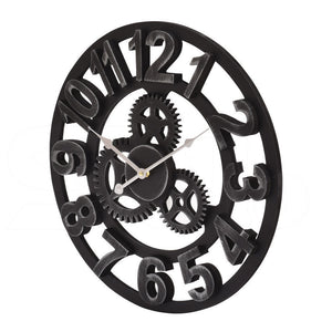 Chic Large Art Wall Clock Rustic Iron Metal Vintage Industrial luxury French
