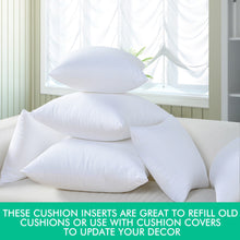 Load image into Gallery viewer, DreamZ 4 Cushion Pillow Inserts 60x60 cm White Outer Case Hypoallergenic Fibre