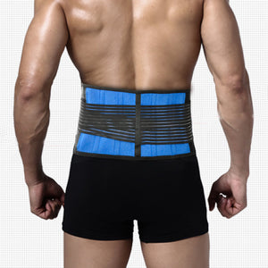Lumbar and Back Support Belt Brace Strap Pain Relief Posture Waist Trimmer 3XL