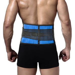 Lumbar and Back Support Belt Brace Strap Pain Relief Posture Waist Trimmer 5XL