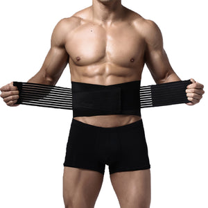Lumbar and Back Support Belt Brace Strap Pain Relief Posture Waist Trimmer 6XL