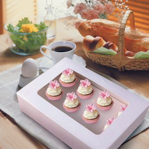 6 Holes Cupcake Boxes 20 Pk Window Face Cover Inserts Cake Boxes Boards