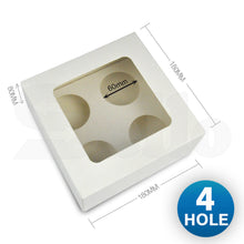 Load image into Gallery viewer, 6 Holes Cupcake Boxes 20 Pk Window Face Cover Inserts Cake Boxes Boards