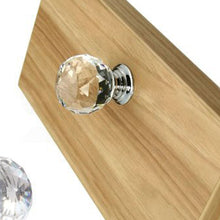 Load image into Gallery viewer, 30mm 20Pack Clear Crystal Glass Door Pull Knobs Knob Drawer Handle Cabinet +Screw