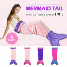 Load image into Gallery viewer, Soft Flannel Mermaid Tail Blanket Fish Bag Fleece snuggle-in Bed Costume Kid