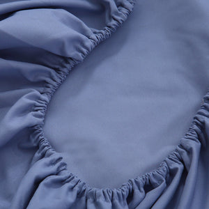 DreamZ Queen Size 4 Piece Bed Sheet Set Flat Fitted Pillowcase Purple Colour