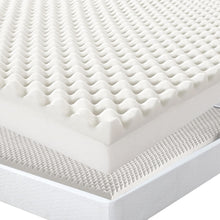 Load image into Gallery viewer, Underlay Foam Egg Crate Mattress Topper QUEEN Size Deluxe Protector 5CM