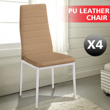 Load image into Gallery viewer, 4x Levede PU Leather Dining Chairs Kitchen Stools Barstool Bar Stool High Back