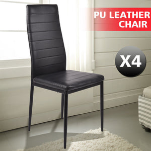 4x Levede PU Leather Dining Chairs Kitchen Stools Barstool Bar Stool High Back