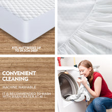 Load image into Gallery viewer, DreamZ Mattress Protector Topper Polyester Cool Cover Waterproof Super King