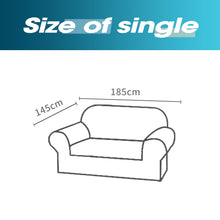 Load image into Gallery viewer, DreamZ Couch Stretch Sofa Lounge Cover Protector Slipcover 2 Seater Chocolate