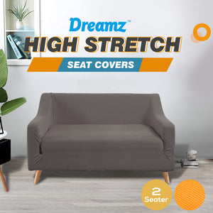 DreamZ Couch Stretch Sofa Lounge Cover Protector Slipcover 2 Seater Chocolate