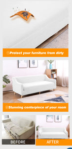 DreamZ Sofa Cover Couch Stretch Lounge Protector Slipcover 3 Seater Off White