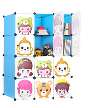 Load image into Gallery viewer, DIY Cube Storage Cabinet Cupboard Wardrobe Shoe Toy Rack Book Shelves Shelf