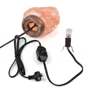 3-5 kg Himalayan Salt Lamp Rock Crystal Natural Light Dimmer Switch Cord Globes