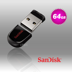 SanDisk Cruzer Fit CZ33 64GB USB Flash Drive - My Bonza Deals