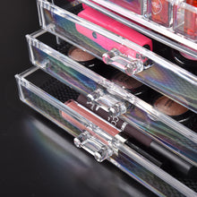 Load image into Gallery viewer, 9 Drawer Clear Acrylic Cosmetic Makeup Organizer Jewellery Storage Box