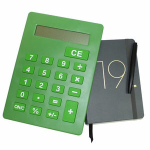 Jumbo Calculator Large Size Display Home Office Desktop Big Buttons Green