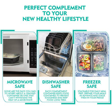 Load image into Gallery viewer, 10x 950ml Microwave Safe Plastic Meal Prep Takeaway Container Lunch Storage Box