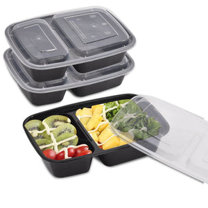 10x 950ml Microwave Safe Plastic Meal Prep Takeaway Container Lunch Storage Box