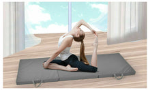 Load image into Gallery viewer, Folding Exercise Floor Mat Dance Yoga Gymnastics Training Home Judo Pilates Grey