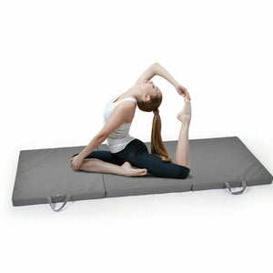 Folding Exercise Floor Mat Dance Yoga Gymnastics Training Home Judo Pilates Grey
