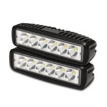 Load image into Gallery viewer, 2x 6 inch 18W LED Work Light Bar Driving Lamp Flood Truck Spot Offroad UTE 4WD