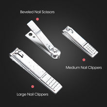 Load image into Gallery viewer, 18PCS Manicure Pedicure Stainless Toe Nail Clippers Kit Cuticle Grooming Tools