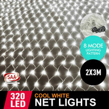 Load image into Gallery viewer, 320LED Fairy Lights Net Mesh Curtain Wedding Party XMAS Tree D?cor Warm White