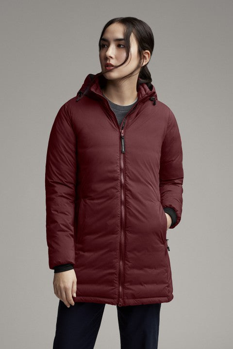 CAMP HOODED DOWN JACKET MATTE FINISH - ELDERBERRY