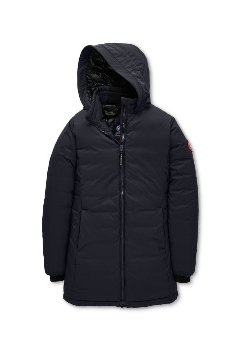 CAMP HOODED DOWN JACKET MATTE FINISH - NAVY