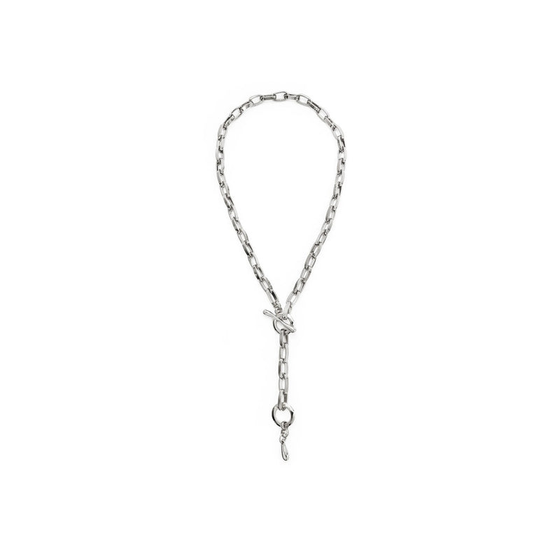 CONVERTIBLE CHAINLINK LARIAT - SILVER