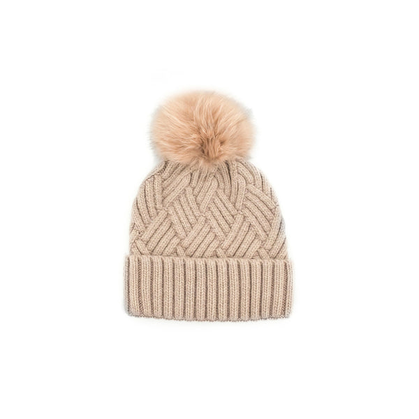 KNITTED TOQUE - DUSTY PINK