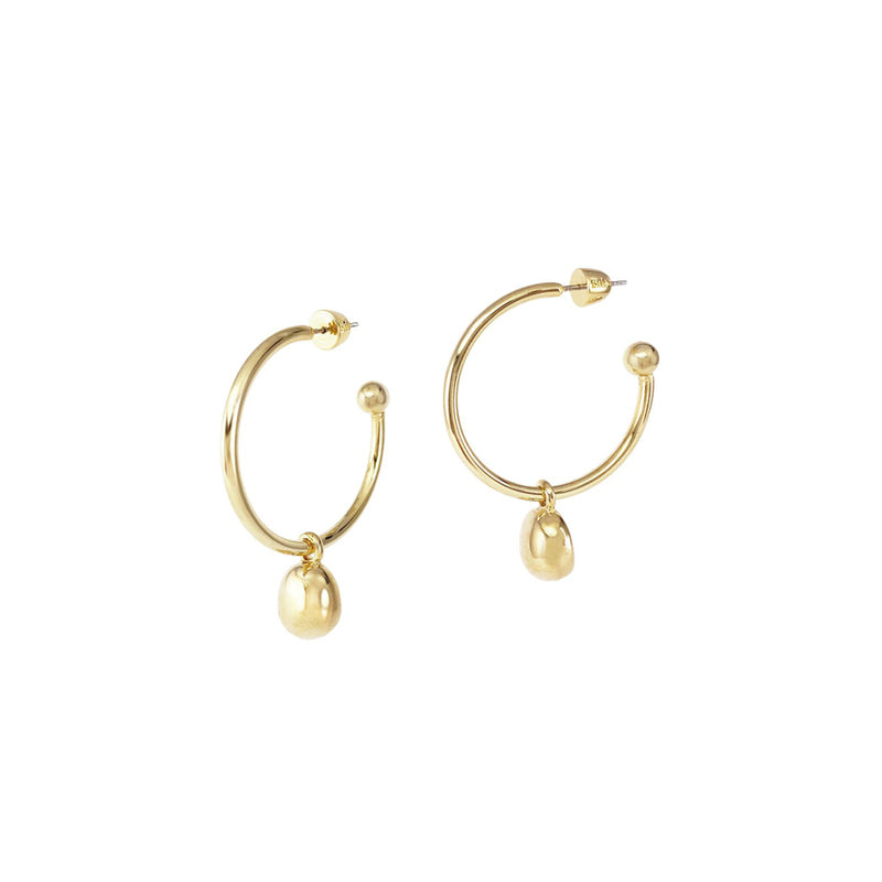 GALINA 2-IN-1 LARGE HOOPS - GOLD