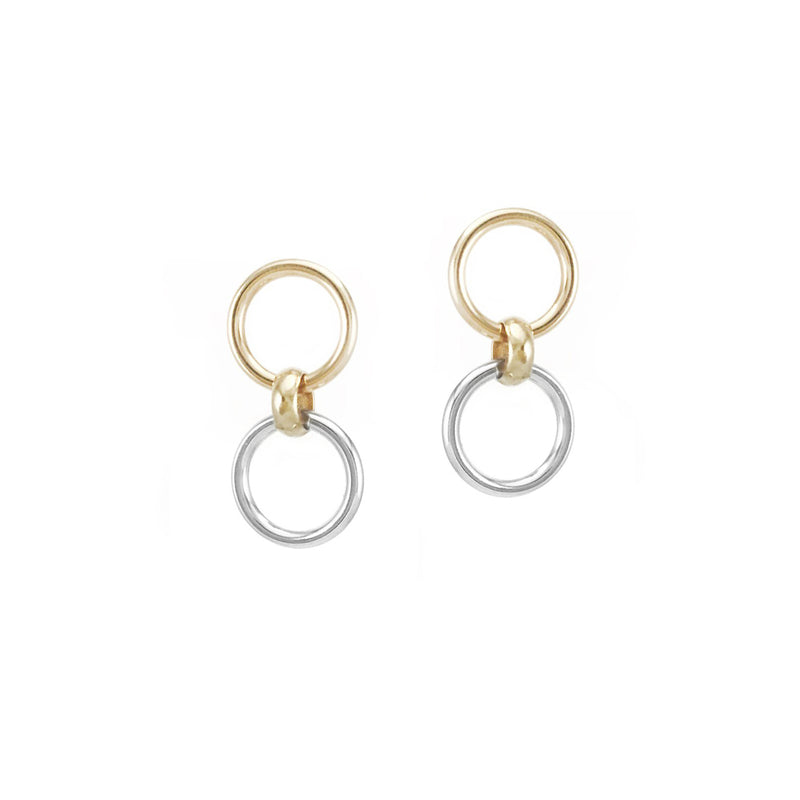 ADELPHI 2-IN-1 STUDS - TWO TONE
