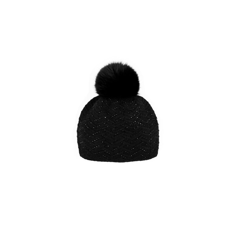 SPARKLE DESIGN TOQUE - BLACK