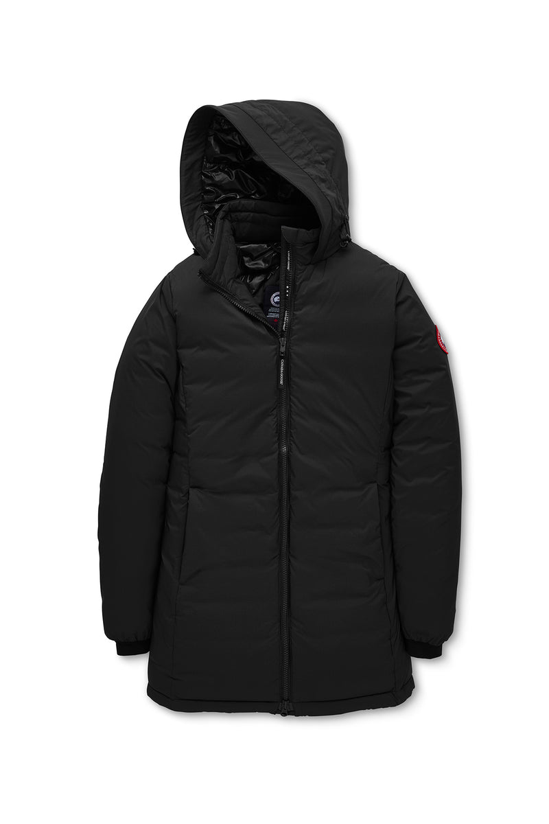 CAMP HOODED DOWN JACKET MATTE FINISH - BLACK